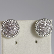 RHODIUM BRONZE EARRINGS WITH CUBIC ZIRCONIA B14OBB55, BY REBECCA MADE IN ITALY