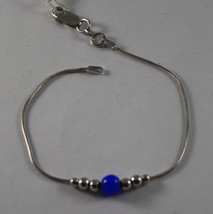 .925 RHODIUM SILVER BRACELET WITH BLUE CRISTAL image 1
