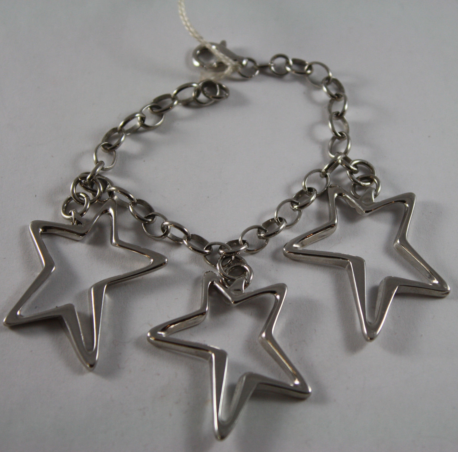 .925 RHODIUM SILVER BRACELET WITH STARS