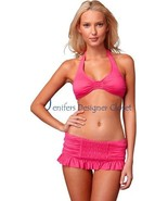 NWT JUICY COUTURE swimsuit bikini smocked skirt... - $115.00