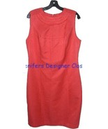 NWT TORY BURCH coral top-stitched dress 10 $485... - $225.00