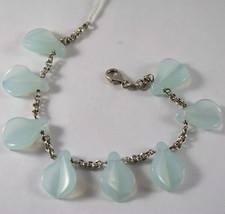 .925 Rhodium Silver Bracelet With Drops Cristal - $111.15
