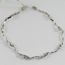 18K 750 WHITE GOLD TENNIS BRACELET WITH DIAMONDS ct 0.62, MADE IN ITALY