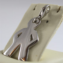 925 SILVER, AQUAFORTE PENDANT, RHODIUM TREATMENT, BABY SHAPED, LOBSTER CLASP. image 2