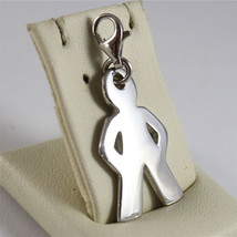 925 SILVER, AQUAFORTE PENDANT, RHODIUM TREATMENT, BABY SHAPED, LOBSTER CLASP. image 3