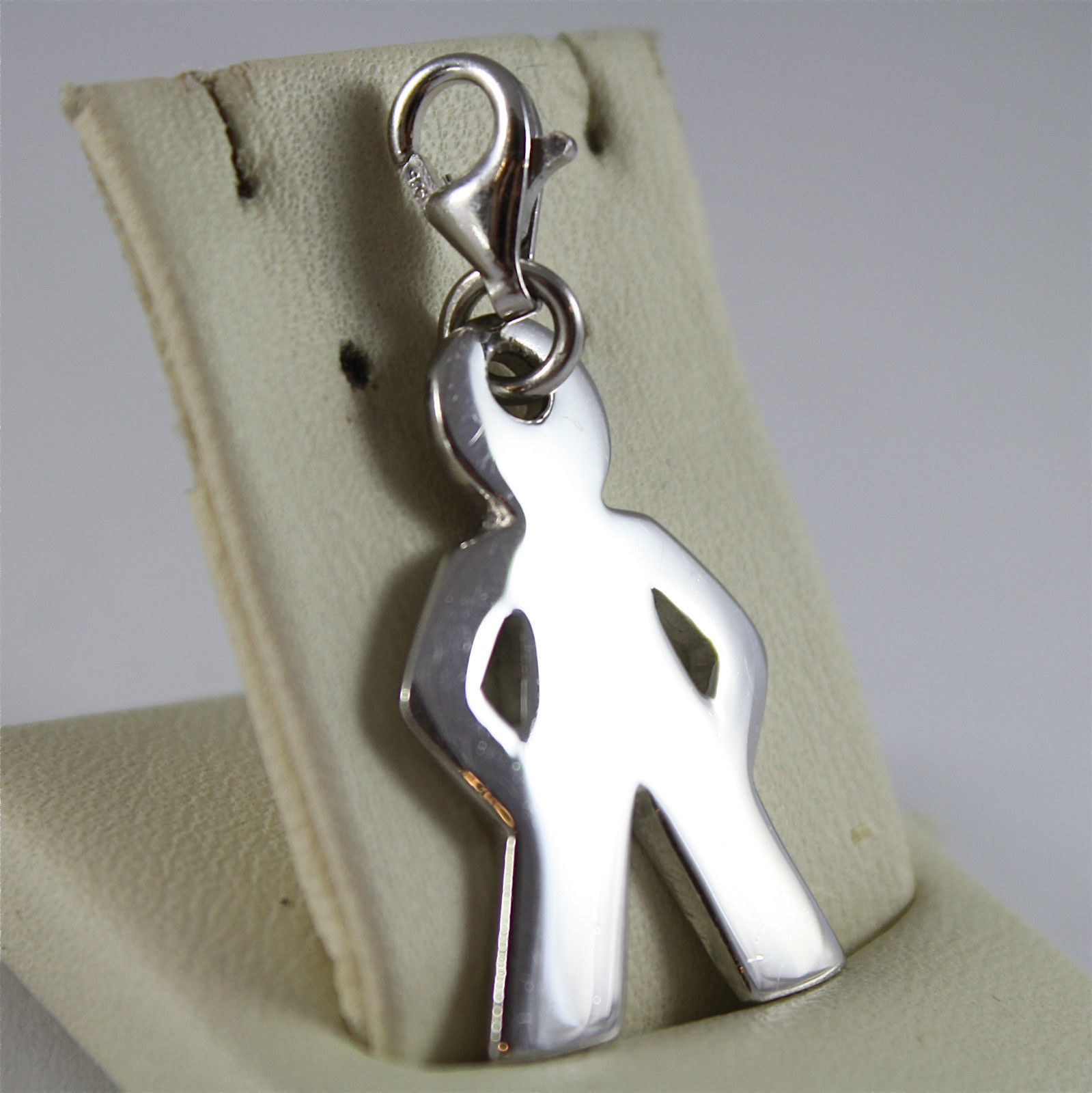 925 SILVER, AQUAFORTE PENDANT, RHODIUM TREATMENT, BABY SHAPED, LOBSTER CLASP.