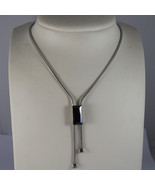 .925 RHODIUM SILVER NECKLACE WITH PURPLE CRISTAL - $141.55