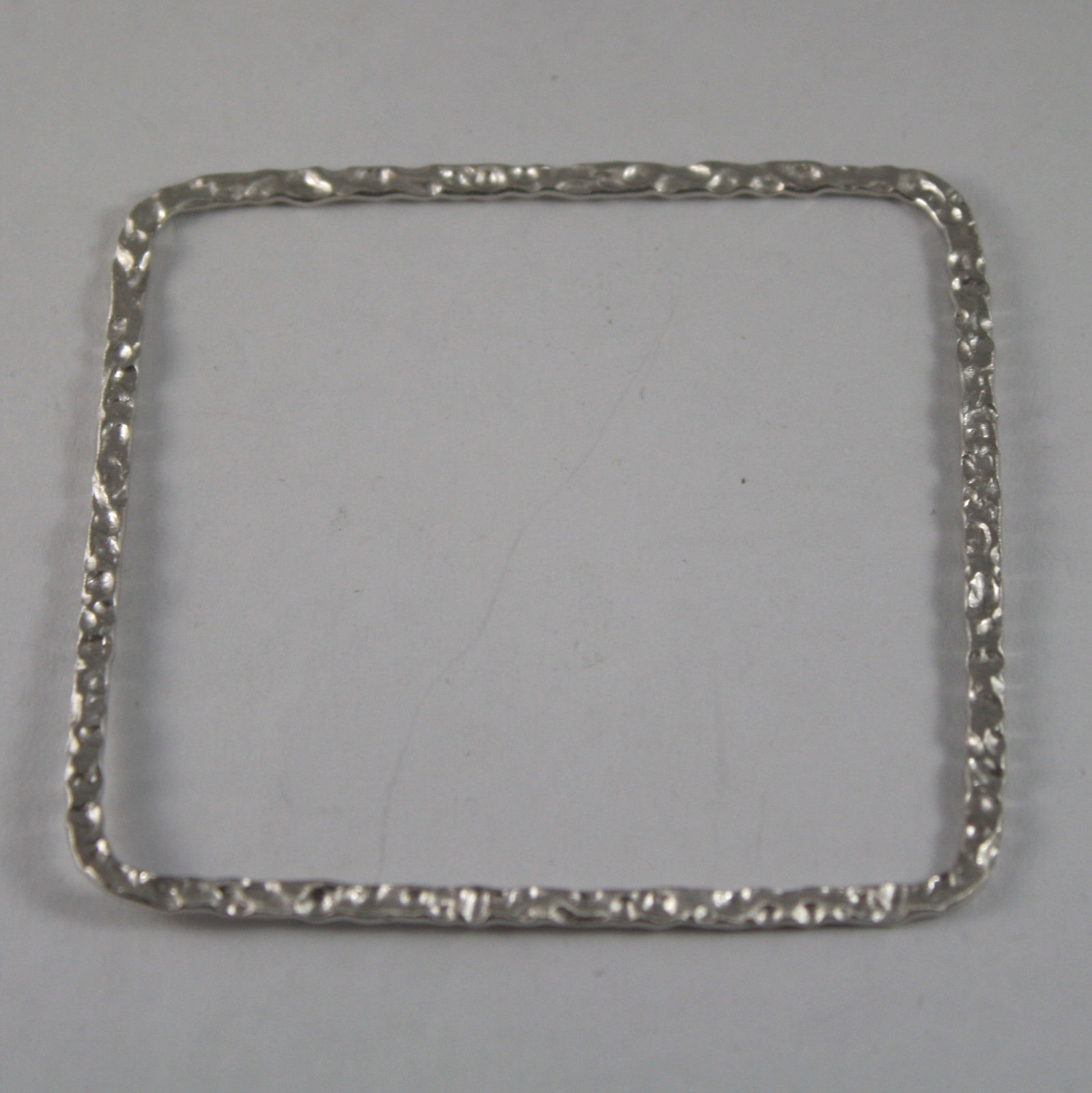 .925 RHODIUM SILVER RIGID BRACELET WITH PROCESSING TO HAMMERING