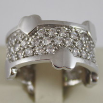 925 RHODIUM SILVER BAND RING WITH CUBIC ZIRCONIA, ROUND CUT, HEART
