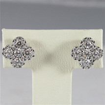 18K WHITE GOLD DIAMONDS CROSS EARRINGS, CT0.72 COLOR H CLARITY VVS MADE IN ITALY