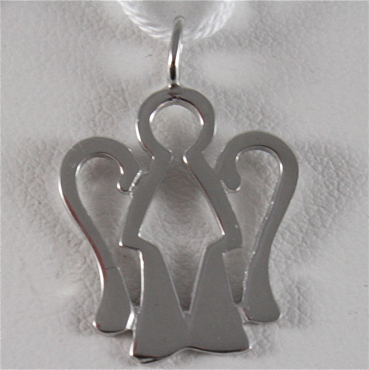 ROBERTO GIANNOTTI NKT175B SOLID WHITE GOLD 9KT ANGEL PENDANT MADE IN ITALY