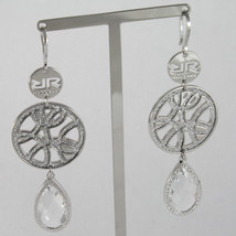 EARRINGS WITH GLAM BDIOBB15, CRYSTAL DROP, 2.83 INCHES BY REBECCA MADE IN ITALY