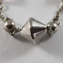 .925 RHODIUM SILVER BRACELET WITH CRYSTALS AND SILVER OVAL image 2