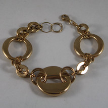 .925 Rhodium Silver Yellow Gold Plated Bracelet With Circles - $101.03