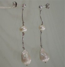 18K WHITE GOLD PEARL EARRINGS MADE IN ITALY