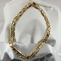 18K 750 YELLOW GOLD SOLID BRACELET, YELLOW GOLD, MADE IN ITALY