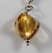 .925 RHODIUM SILVER BRACELET WITH GOLDEN SPHERE, YELLOW CRISTAL AND MURRINA image 2