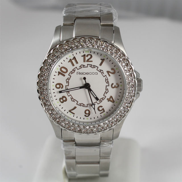 REBECCA WATCH AGROBB16, STAINLESS STEEL STRAP AND CASE WITH CRYSTALS