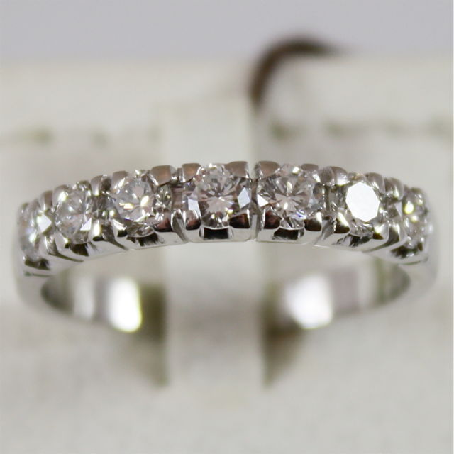 18K 750 WHITE GOLD ETERNITY RING WITH DIAMONDS CT 0.98, MADE IN ITALY