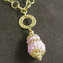 925 SILVER PENDANT/NECKLACE, GOLD PL.,SALOMITE, MADE IN ITALY BY SAVOIA JEWELS