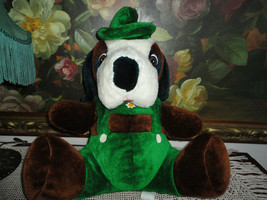 Ganz Bros Antique Vintage OKTOBERFEST GERMAN BULLDOG LEDERHOSEN Plush Ou... - $86.85