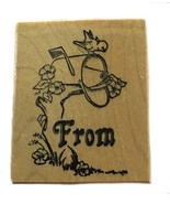 Rubber Wood Stamp Stamping Crafting From Gift Tag  Card PSX C-985 - $9.89