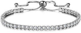 GULICX Fashion Silver Color Cubic Zirconia Adjustable Bracelets - $30.28