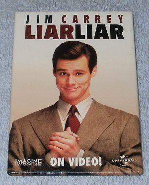 Movie Promotion Pinback Pin Button Liar Liar Jim Carrey 1997 - $5.95