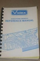 Videx videoterm Reference Operating Users Guide Technical Manual - $25.95