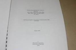 Weinschel RF Unit 434A/435A/442A/444A/4309A Operating Guide Service Manual - $25.95