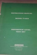 Wilcom T105B Reference Level Test Set Operating Instructions Users Guide Manual - $25.00
