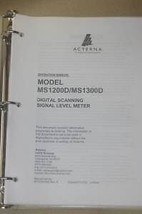 Wavetek Acterna MS1200D/MS1300D Digital Scanning Signal Level meter Manual - $121.47