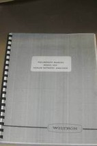 Wiltron 560 Scalar Network Analyzer Prelim Operating Users Guide Manual - $123.95