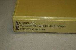 Wiltron 561 Scalar Network analyzer Operation Users Guide Technical Manual - $123.95