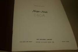 Kay Electric Mega-Node 240A Operating/Maintenance Manual - $25.43