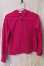 Girls Old Navy Pink Long Sleeve 1/4 Zip Hooded Fleece Top Size XL 14 - $5.95