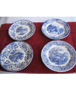 Ironstone Spode LIKE blue & White English Scenes Views Italian Italy 4 p... - $39.97