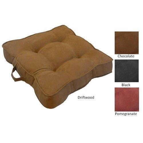 Large Microsuede Floor Cushion Chocolate lounger couch Dorm Pottery Barn style - $53.95