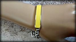 High quality Lia Sophia Color Blast ID bracelet Lemon yellow Retail $58 NIB - $18.76