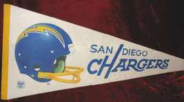 San Diego Chargers NFL Football Banner Pennant Flag - $35.00