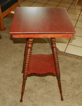 Solid Cherry Turned Spindle Lamp Table  (T355) - $349.00