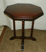 Mahogany Carved Lamp Table / Parlor Table  (T247) - $399.00