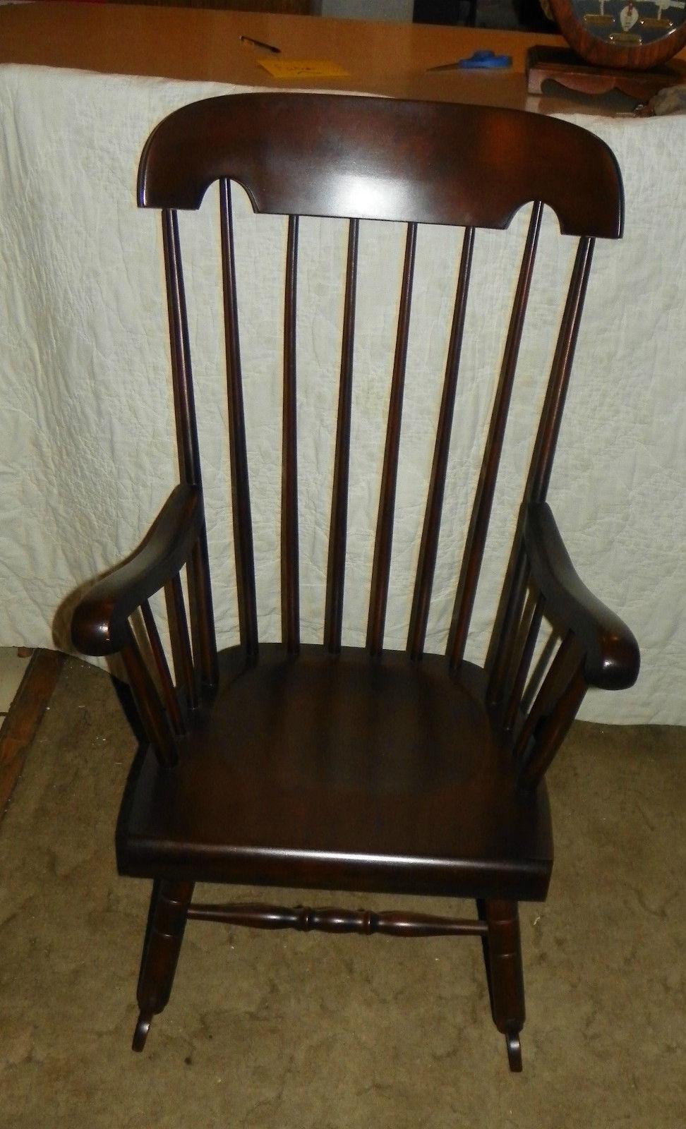 mahogany tell city rocker rocking chair and 50 similar items