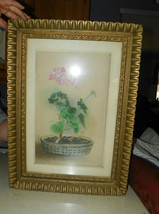 Gold Carved Frame with Flower Print Picture - $169.00