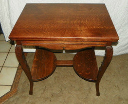 Solid Quartersawn Oak Carved Center Table / Parlor Table  (T374) - $599.00
