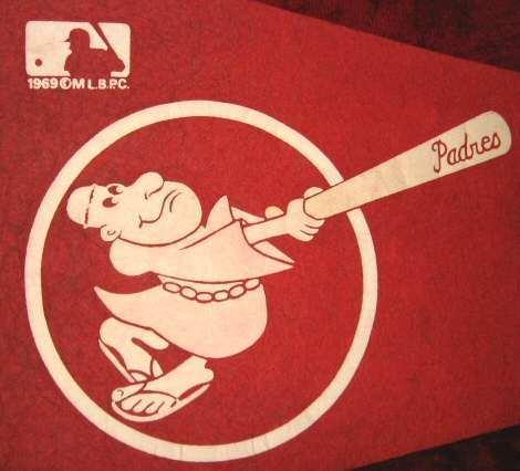1969 San Diego Padres MLB Baseball Banner Pennant Flag