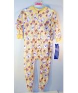 Carter's Girls 12 month zipper sleeper kittens butterflies yellow - $8.95