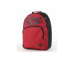 RVCA BOMBER BACKPACK RED W/ BLACK ZIPPER, BACK STRAPS AND RVCA LOGO NEW $60 - $44.00