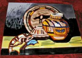 """Hand Painted Ceramic Glazed Pottery Painting 14""""x11"""" - $15.00"""