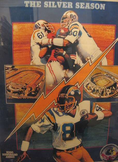 San Diego Chargers AFL 25th Anniversary Patch & Poster